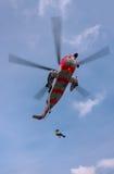 直升机国王抢救海运 图库摄影