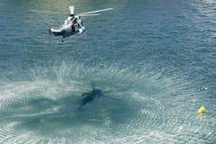直升机国王海军海运 库存图片