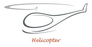 直升机图标 免版税库存照片
