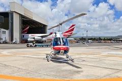 直升机在毛里求斯 免版税库存图片
