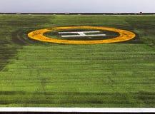 直升机场信号视觉 库存照片
