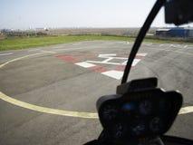 直升机场 免版税库存图片