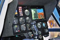 直升机客舱显示在直升机产业HeliRussia的第11国际陈列2018年 库存图片