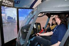 直升机模拟程序 免版税库存图片