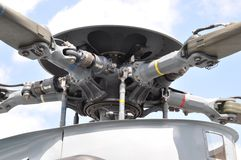 直升机电动子 免版税图库摄影