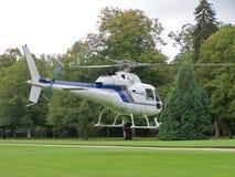 直升机白色 免版税库存照片