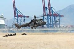 直升机着陆 库存照片