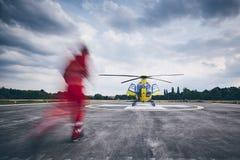直升机紧急医疗服务 库存照片