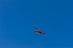 直升机红色 图库摄影