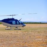 直升机葡萄园 免版税库存图片