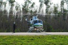 直升机迈阿密警察 库存照片