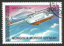直升机,韦斯特兰WG 30 免版税库存照片