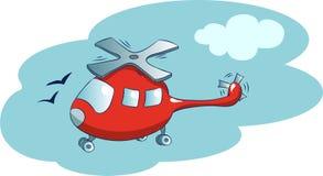 直升机 向量例证