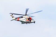直升机AW139SAR Helimer 免版税库存照片