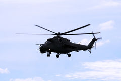 直升机mi24 免版税库存照片