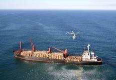 直升机mi26工作 免版税库存图片