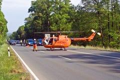 直升飞机营救 免版税图库摄影