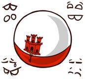 直布罗陀国家球 皇族释放例证
