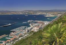 直布罗陀地平线,鸟瞰图 免版税库存照片