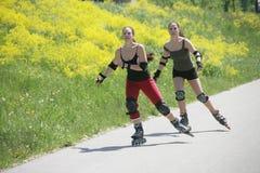 直排轮式溜冰鞋时间 免版税库存图片