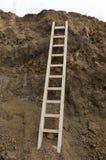 直接梯子 免版税图库摄影