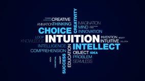 直觉智力挑选创造性敏锐决定脑子企业了悟成功洞察给词云彩赋予生命 皇族释放例证