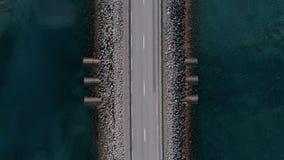 直路或桥梁看法在冰岛 股票录像