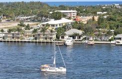 相互沿海水路在劳德代尔堡,佛罗里达 库存图片