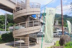 相互螺旋圈子楼梯的装饰 免版税图库摄影