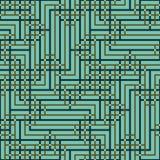 相交方形的装饰品的抽象无缝的传染媒介样式 图库摄影