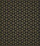 相交的几何样式在黑背景排行 金黄梯度 提取您背景的设计 向量 库存例证