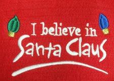 相信克劳斯我圣诞老人 免版税库存图片