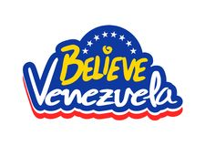 相信委内瑞拉消息 免版税库存图片