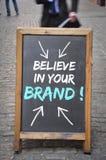 相信您的品牌广告牌 免版税库存图片