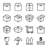 相关的箱子和包装 库存照片