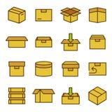 相关的箱子和包装 免版税图库摄影