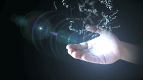 相对论(E = mc2)在手中 影视素材