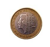 相当一欧元价值的硬币 免版税库存照片