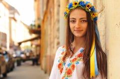 相当乌克兰女孩特写镜头画象 图库摄影