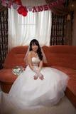 相当亚裔新娘 图库摄影