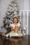 相当作梦圣诞节的女孩 图库摄影