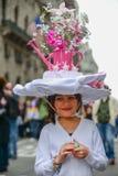独特的花帽子 库存图片