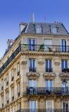 相当典雅的公寓楼巴黎法国 图库摄影