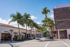 相当大道价值在豪华棕榈滩,佛罗里达 免版税库存图片