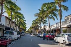 相当大道价值在豪华棕榈滩,佛罗里达 库存图片