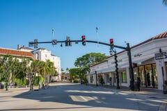 相当大道价值在豪华棕榈滩,佛罗里达 图库摄影