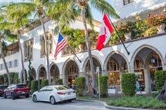相当大道价值在豪华棕榈滩,佛罗里达 免版税库存照片