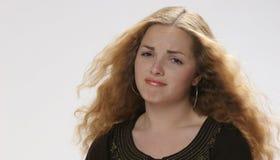 相当失望的女孩 库存照片