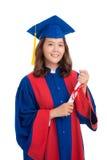 相当女性毕业生 免版税库存图片