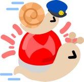 相当小的蜗牛 免版税库存照片